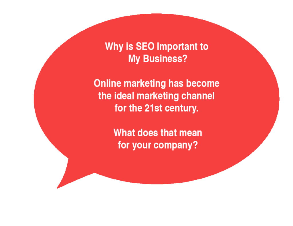 Why is SEO Important to My Business? Online marketing has become the ideal marketing channel for the 21st century.  What does that mean for your company?